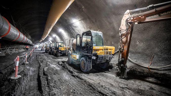 CRL Karangahape Station under construction. (Photo / Michael Craig)