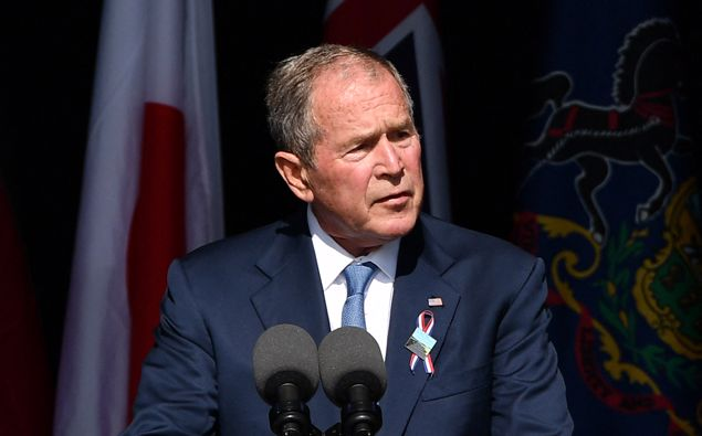 Former US President George W. Bush speaks during a 9/11 commemoration at the Flight 93 National Memorial in Shanksville, Pennsylvania on Sept. 11. (Photo / Getty)