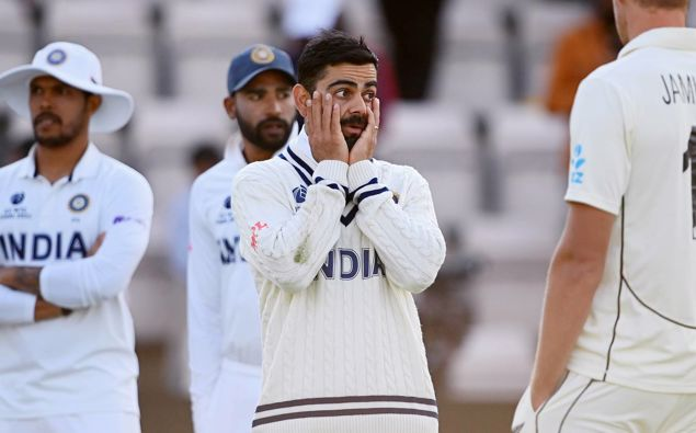 Virat Kohli gestures during the World Test Championship final. Photo / Getty