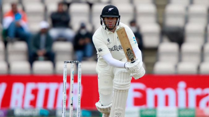 New Zealand's Ross Taylor plays a shot during the fifth day of the World Test Championship final cricket match between New Zealand and India. (Photo / AP)