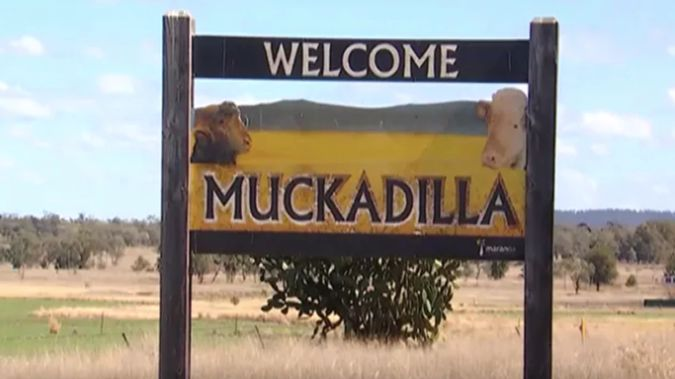 The Muckadilla Hotel is located about 40km west of Roma. (Photo / 7 News)