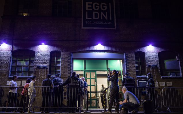 People queue to get in to the Egg London nightclub. (Photo / Getty)