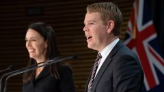 Jacinda Ardern and Chris Hipkins. (Photo / NZ Herald)