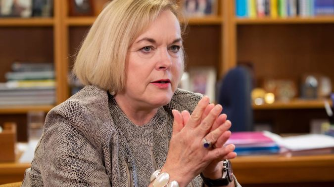 National Party leader Judith Collins says the woman is an ISIS terrorist. (Photo / Mark Mitchell)