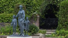 The statue of Princess Diana in the Sunken Garden at Kensington Palace, London. Photo / AP