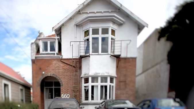 The band's former Dunedin flat featured in the music video for one of the band's first big hits, Don't Forget Your Roots. (Photo / Universal Music Group)