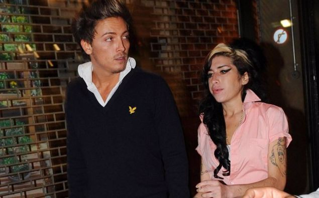 Amy Winehouse with Tyler James in Covent Garden, London. (Photo / Getty)