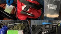 Police seize sub machine gun, pistol, meth, and Head Hunters patches from South Auckland locker