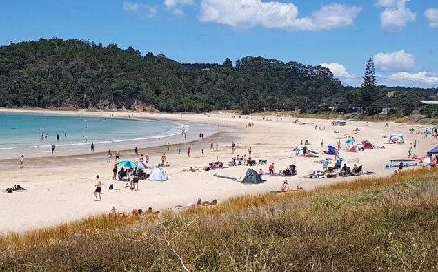 Visitors And Locals Enjoy The Sun, Sand And Water Activities At Matapōuri On Northland's Tutukaka Coast. Photo / Nick Unkovich