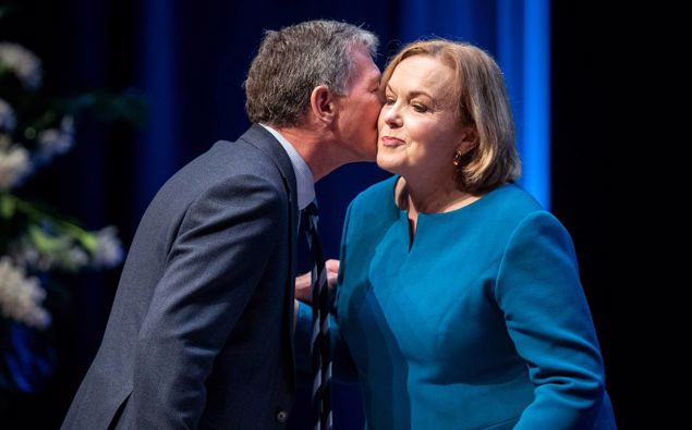 National Party leader Judith Collins addresses the National Party annual conference at the Vodafone Events Centre in Manukau. (Photo / Jason Oxenham)
