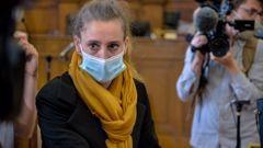 Valerie Bacot is pictured at the courthouse in Chalon-sur-Saône, France, on June 21. (Photo / CNN)
