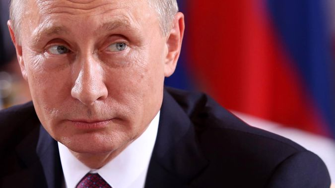 The documents appear to have come from a closed meeting of the country's national security council, attended by Vladimir Putin. Photo / Getty Images