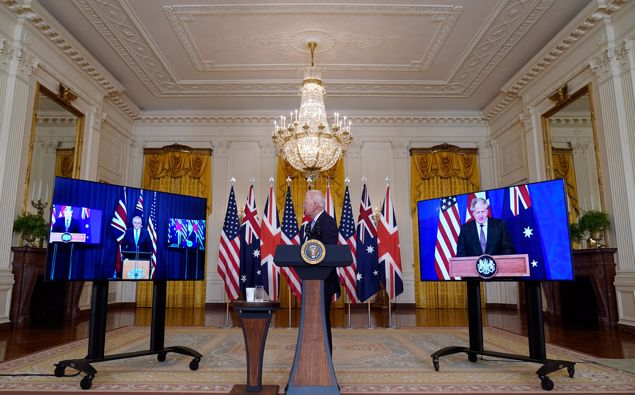 American officials defend a new deal to provide Australia with nuclear-powered submarines after French officials expressed frustration over the agreement's effect on an existing multibillion-dollar defense deal. (Photo / AP)