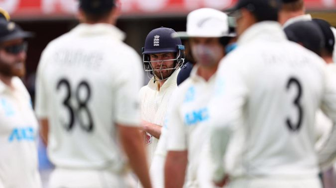 Dom Sibley denied the Black Caps bowlers. (Photo / Getty)