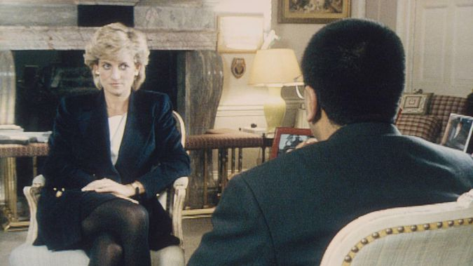 Martin Bashir interviews Princess Diana in Kensington Palace for the television programme Panorama. (Photo / Getty Images)