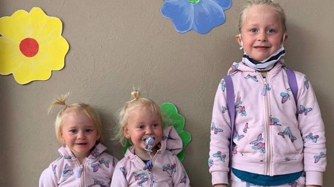 A woman has been charged after two-year-old twins Karla and Maya Dickason and their six-year-old sister Liane were found dead in Timaru. Photo / Supplied