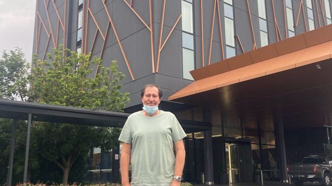 Auckland businessman Peter Goodburn outside his hotel in Sydney. (Photo / Supplied)
