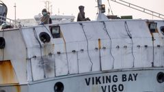 Thirteen more crew members on the Viking Bay have tested positive for Covid-19. (Photo / Mark Mitchell)