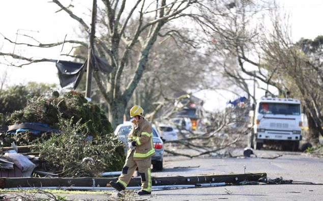 Parts of South Auckland are facing a massive clean up after yesterday's tornado. (Photo / Hayden Woodward)