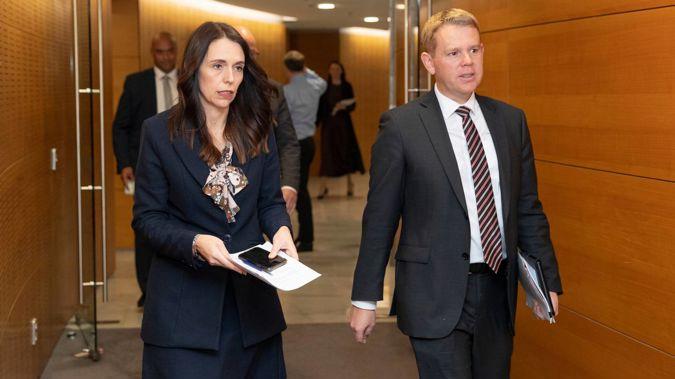 Prime Minister Jacinda Ardern and Covid-19 Response Minister Chris Hipkins. Photo / Mark Mitchell