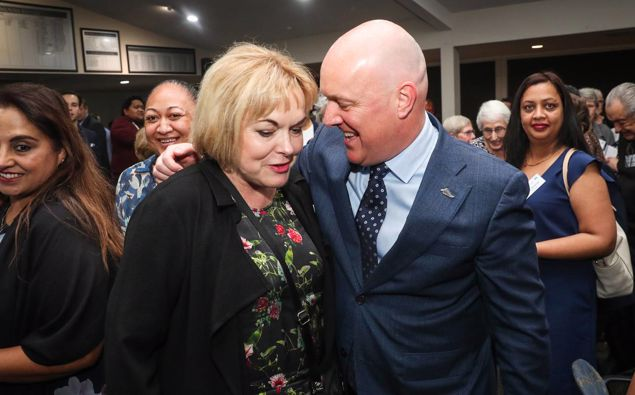 Judith Collins and Chris Luxon. (Photo / NZH)