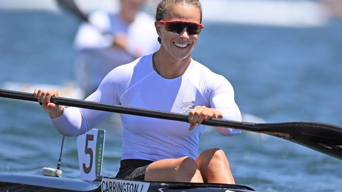 Lisa Carrington (NZL) (pictured) and Caitlin Regal won gold in the K-2 500m. Photo / Photosport.co.nz