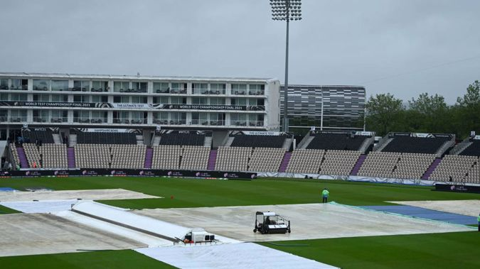 The covers stayed on all day on day one of the World Test Championship final. (Photo / Getty)