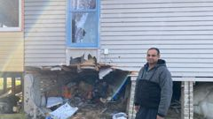 Homeowner Niraj Prasad was startled late last night when a car lodged into his home. Two occupants of the car died in the crash. (Photo / Nick James)