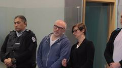 Ryszard Wilk, with a translator assisting him, was jailed today for cocaine importation. (Photo / Michael Craig)