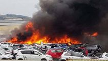 Scrap yard on fire in Auckland: Multiple cars on fire