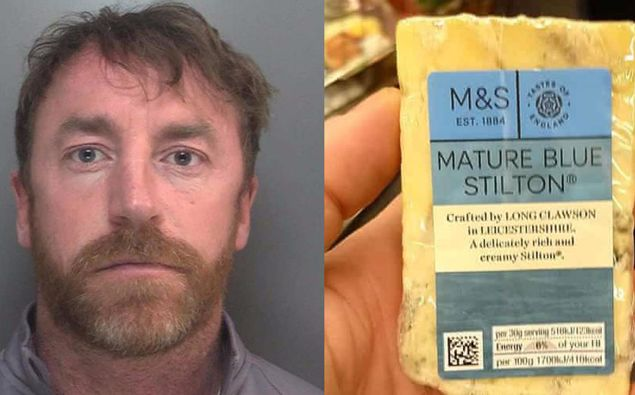 """Carl Stewart """"was caught out by his love of Stilton cheese"""". (Photo / Merseyside Police)"""