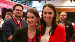 Claire Szabo (left), Labour Party president, with Labour leader and Prime Minister Jacinda Ardern. Photo / Audrey Young