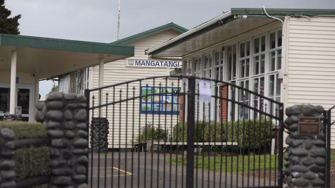 Pupils, staff and parents from the Mangatangi School are being urged to get tested after the school was linked to Covid-19. (Photo / Mike Scott)