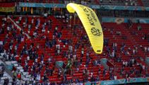 People hurt by parachuting protester at Euro 2020 game