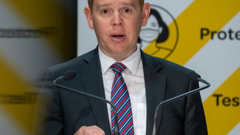 Covid-19 Minister Chris Hipkins assured the Government wouldn't budge on its vaccine stance for midwives. (Photo / Herald)