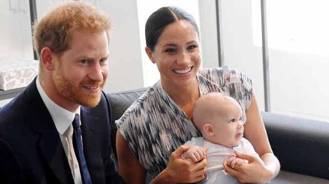 Prince Harry and Meghan and their son Archie Mountbatten-Windsor. Photo / Getty Images