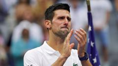 Novak Djokovic reacts to the crowd after losing to Daniil Medvedev in the men's singles final of the US Open. (Photo / AP)