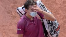 French Open Day One: Osaka fined, Thiem crashes out