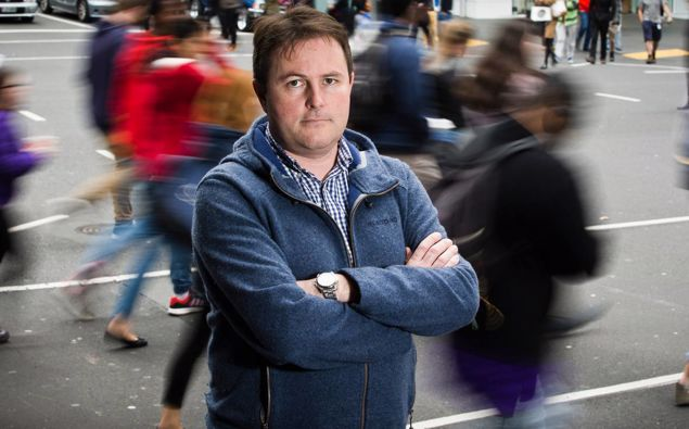 Auckland University Professor Shaun Hendy. Photo Greg Bowker