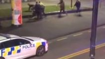 Watch: Brutal brawl in Wgtn park, attackers then turn on police