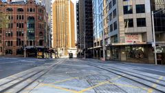 Empty streets in central Sydney on July 5. (Photo / Getty Images)