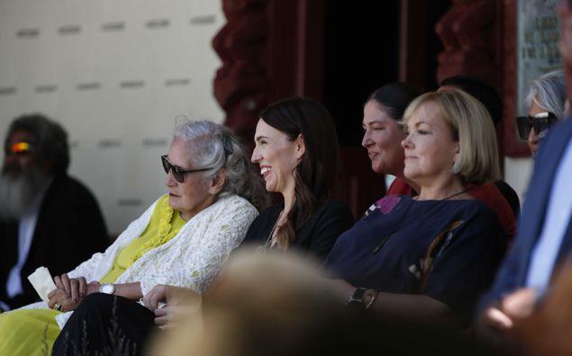 Judith Collins alongside Jacinda Ardern at Waitangi in February 2021. (Photo / NZ Herald)