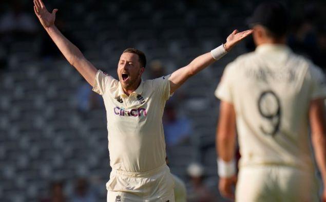 England's Ollie Robinson. (Photo / AP)