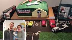 The Christchurch family created an epic Bunnings cake for Olivia's second birthday. (Photo / Supplied)