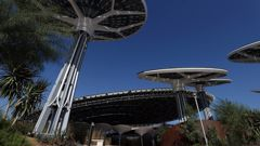 A general view of Terra - The Sustainability Pavilion at Expo 2020 Dubai. (Photo / Getty Images)