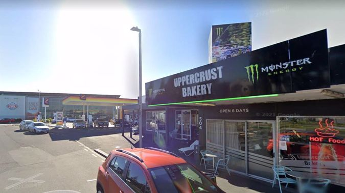 The Uppercrust Bakery in Mt Maunganui has been linked to a Covid case twice. (Image / Google)