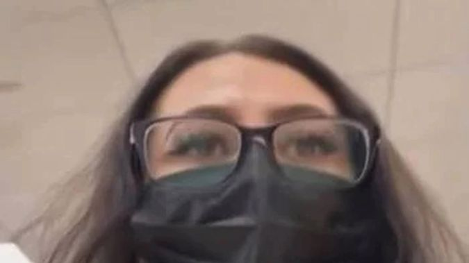 Texas woman Casey Garcia disguised herself for the incident. (Photo / YouTube)