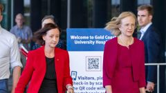 Queensland's Health Minister Yvette D'Ath and chief health officer Dr Jeanette Young. (Photo / Getty Images)