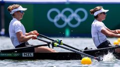 Brooke Donoghue (L) and Hannah Osborne made an impressive start to their Olympic campaign. Photo / Getty