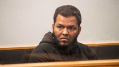 Aathill Mohamed Samsudeen in the High Court at Auckland in August 2018. He was granted bail but arrested two days later after buying a hunting knife. (Photo / Greg Bowker)